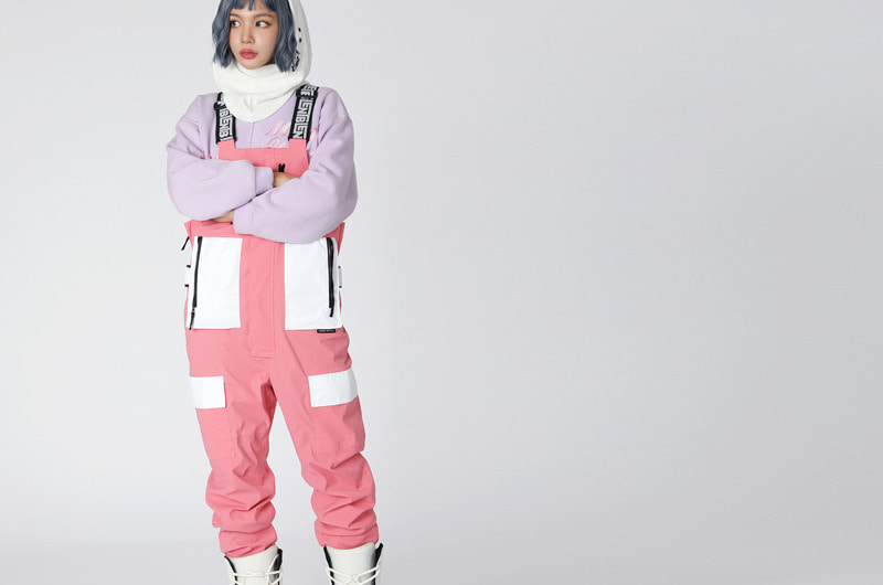 1920 BLENT VIENTA OVERALL PINK 블렌트 오버롤 보드복