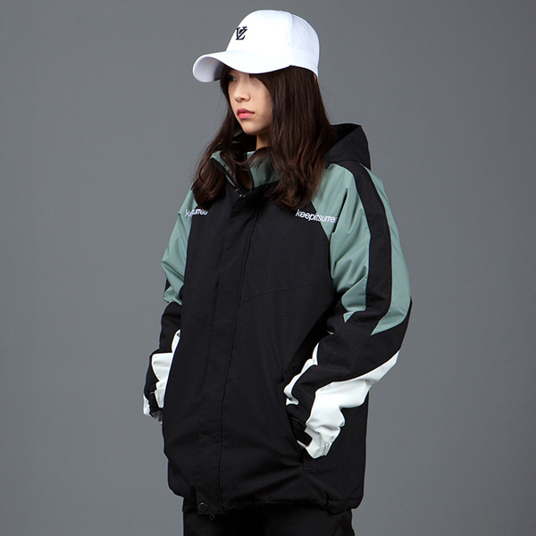 1920 BOUND BLOCK JACKET BLACK 바운드 보드복