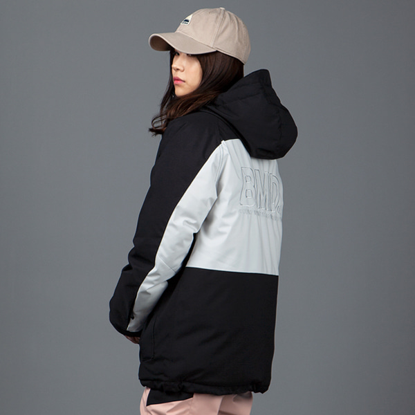 1920 BOUND COZY ANORAK DOWN JACKET BLACK 바운드 보드복