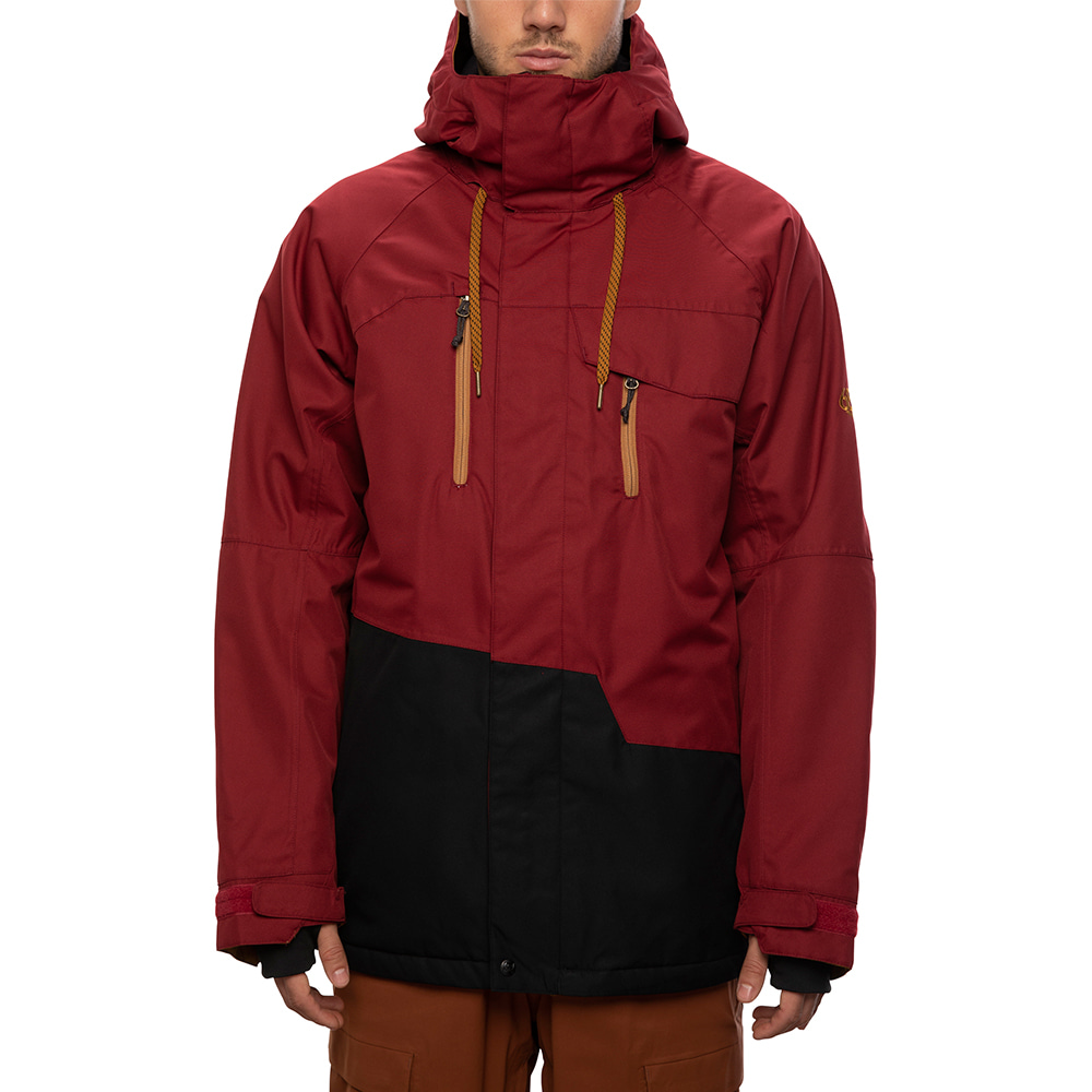2021 686 Geo Insulated Jacket Oxblood Colorblock 자켓