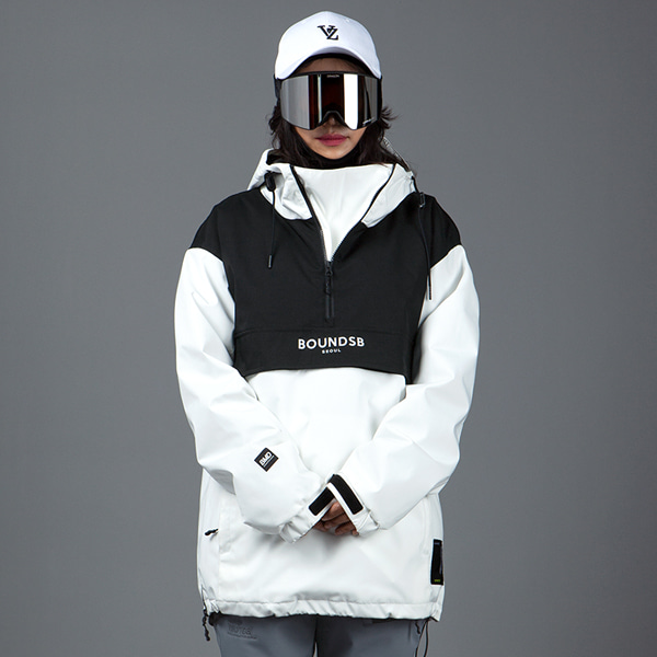 1920 BOUND PHANTOM PULLOVER JACKET WHITE 바운드 보드복