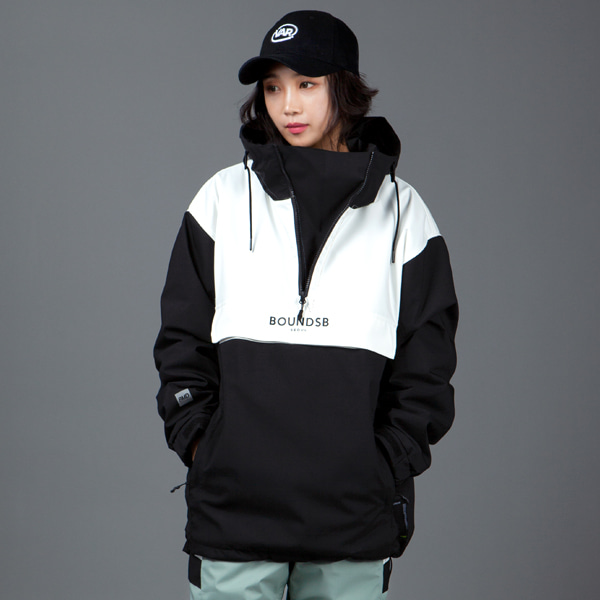 1920 BOUND PHANTOM PULLOVER JACKET BLACK 바운드 보드복