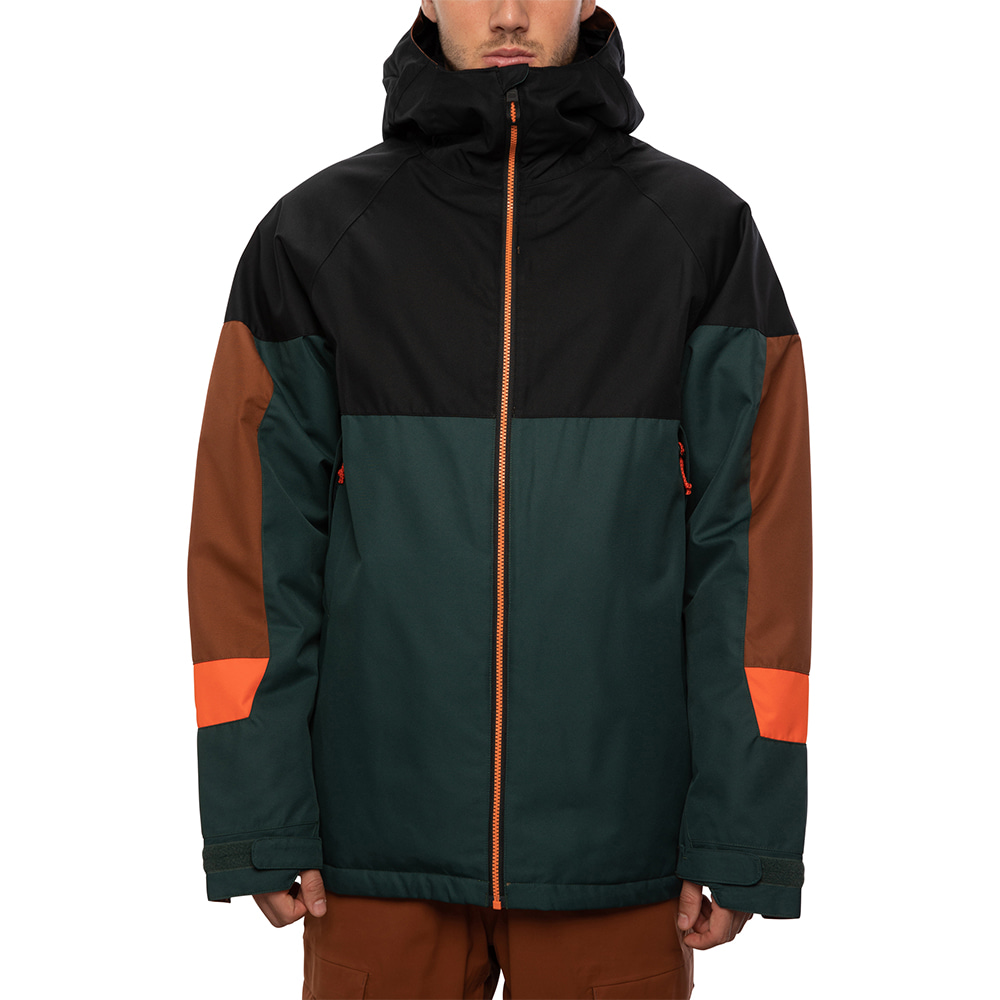 2021 686 Static Insulated Jacket Dark Spruce Colorblock 자켓