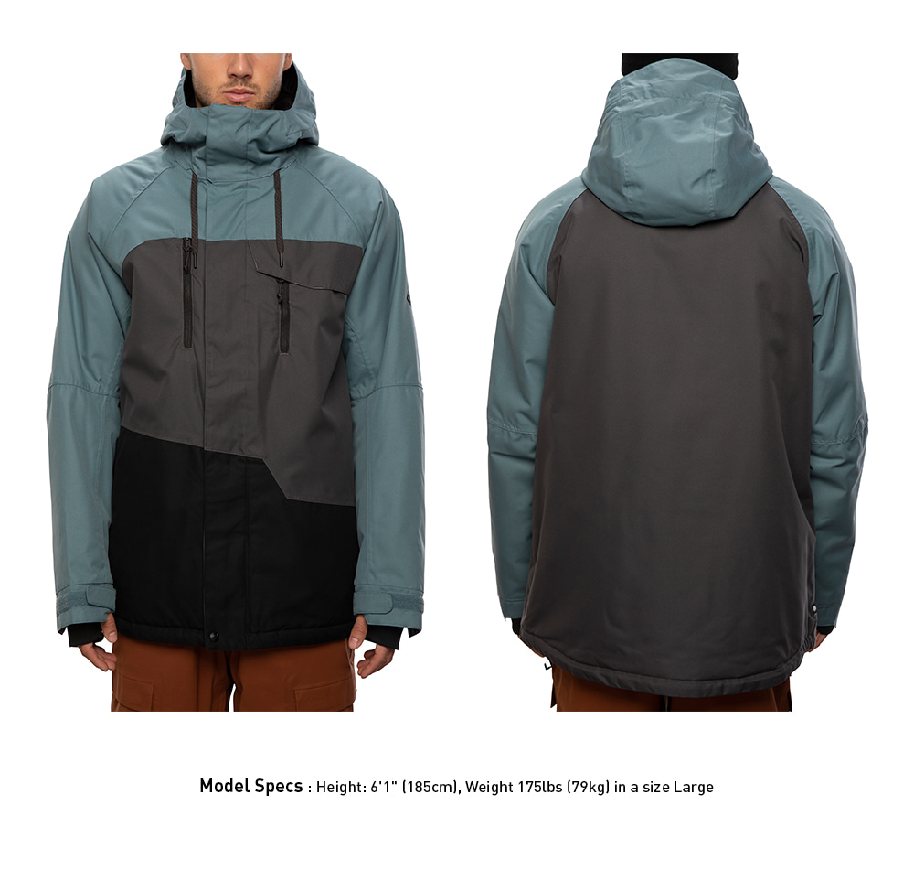 2021 686 Geo Insulated Jacket Goblin Blue Colorblock 자켓
