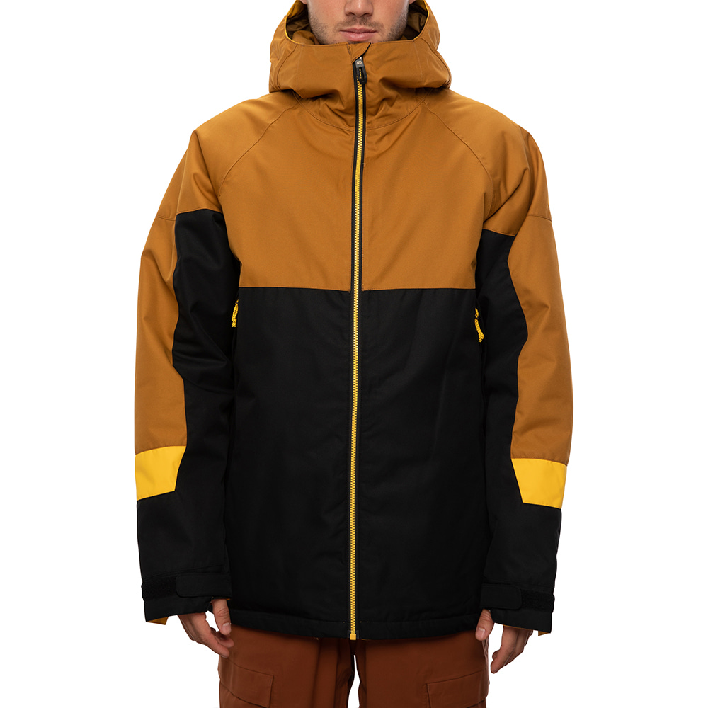 2021 686 Static Insulated Jacket Golden Brown Colorblock 자켓