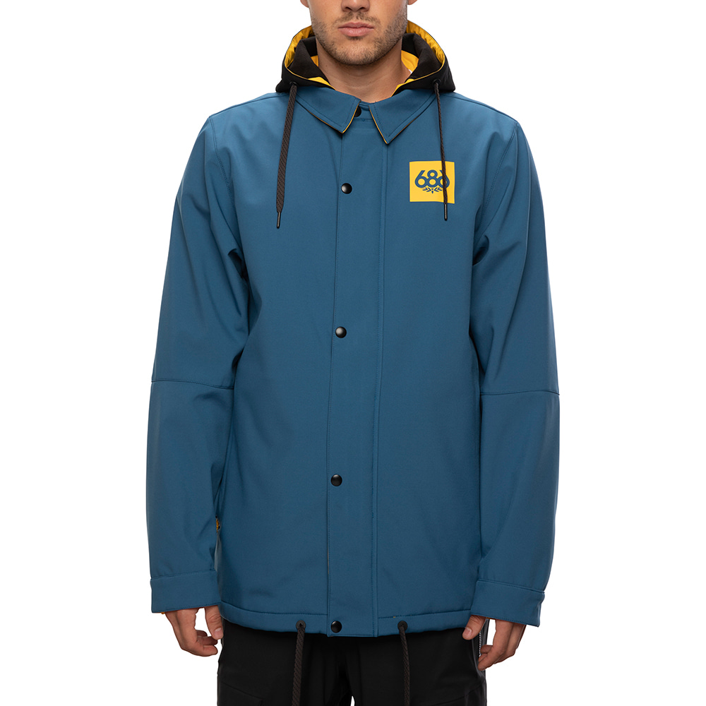 2021 686 Waterproof Coaches Jacket Blue Storm 방수 자켓